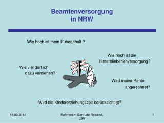 Beamtenversorgung in NRW
