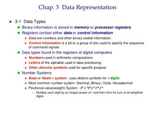 Chap. 3  Data Representation