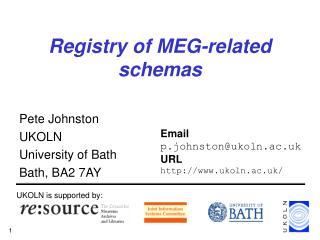 Registry of MEG-related schemas