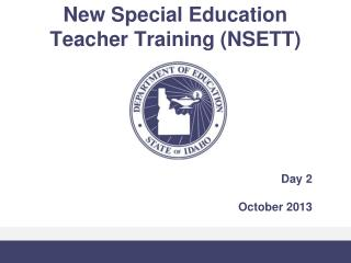 New Special Education  Teacher Training (NSETT)