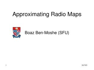 Approximating Radio Maps