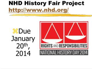 NHD History Fair  Project nhd/