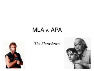 MLA v. APA