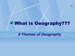 What is Geography???