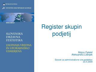 Register skupin podjetij