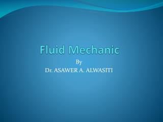 Fluid  Mechanic