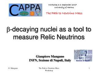  -decaying nuclei as a tool to measure Relic Neutrinos