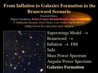Superstrings Model    Braneword    Inflation     DM SnIa Mass Power Spectrum