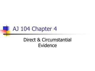 AJ 104 Chapter 4