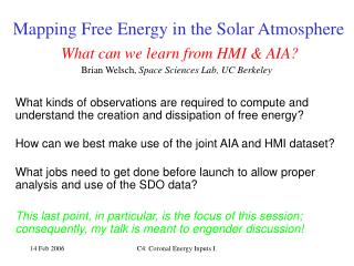 Mapping Free Energy in the Solar Atmosphere