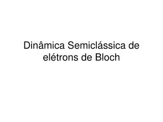 Dinâmica Semiclássica de elétrons de Bloch