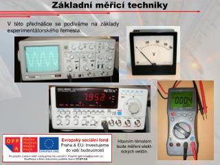 Základní měřicí techniky