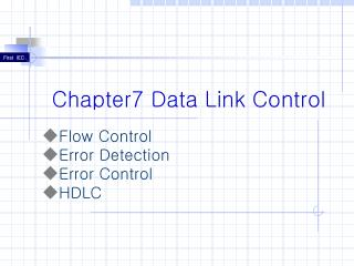 Chapter7 Data Link Control