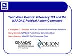 Your Voice Counts: Advocacy 101 and the NAADAC Political Action Committee