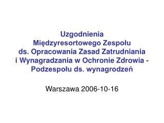 Warszawa 2006-10-16