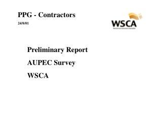 PPG - Contractors 24/8/01