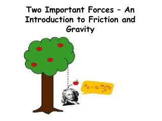 Two Important Forces – An Introduction to Friction and Gravity
