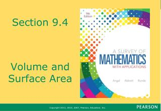 Section 9.4 Volume and Surface Area