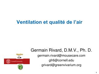 Ventilation et qualité de l'air