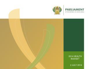 2014 HEALTH  BUDGET