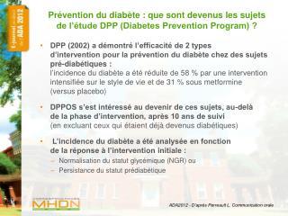ADA2012 - D'après Perreault L. Communication orale