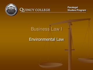 Business Law I Environmental Law
