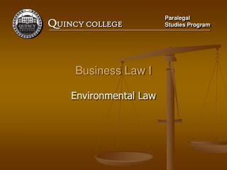 Business Law I Environmental Law