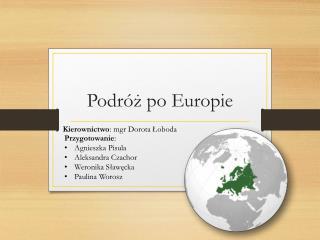 Podr�? po Europie