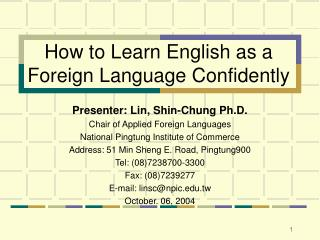 How to Learn English as a Foreign Language Confidently
