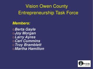 Vision Owen County Entrepreneurship Task Force