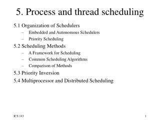 5. Process and thread scheduling