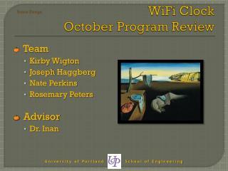 WiFi  Clock October Program Review