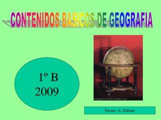 CONTENIDOS BASICOS DE GEOGRAFIA