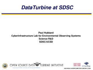 DataTurbine at SDSC