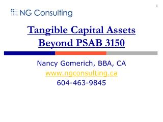 Tangible Capital Assets Beyond PSAB 3150