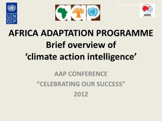 AFRICA ADAPTATION PROGRAMME Brief overview of  'climate action intelligence'
