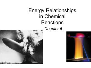 Energy Relationships in Chemical Reactions