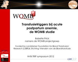 NVB-TRIP symposium 2012