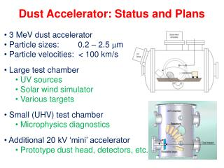 Dust Accelerator: Status and Plans