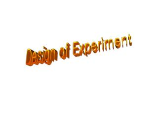 Design of Experiment