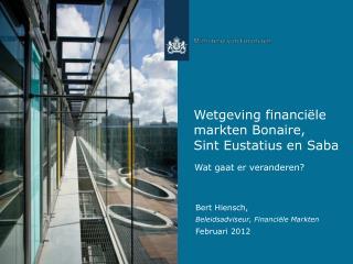 Wetgeving financiële markten Bonaire,  Sint Eustatius en Saba