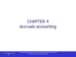 CHAPTER 4 Accruals accounting