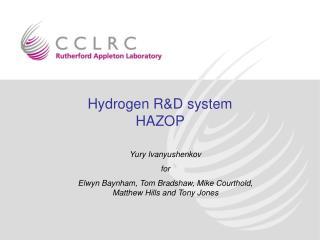 Hydrogen R&D system  HAZOP