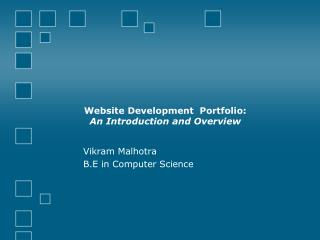 Website Development  Portfolio:  An Introduction and Overview
