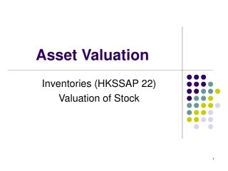 Asset Valuation