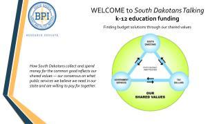 WELCOME to  South Dakotans Talking  k-12 education funding