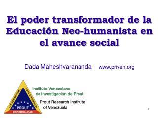 El poder transformador de la Educación Neo-humanista en el avance social