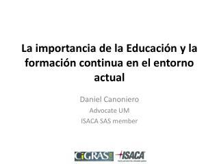 La importancia de la Educación y la formación continua en el entorno actual