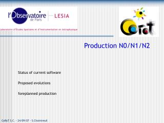 Production N0/N1/N2