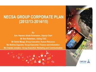 Necsa  group corporate plan (2012/13-2014/15)